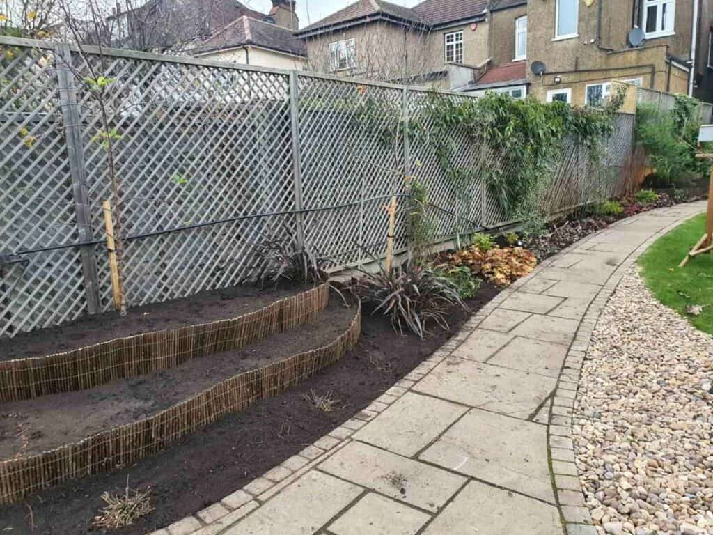Stepped Raised Beds Installation in Palmers Green N13-10
