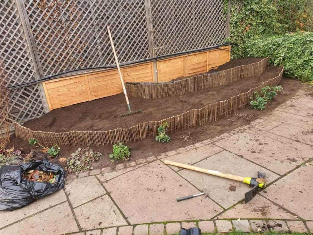 Stepped Raised Beds Installation in Palmers Green N13-5