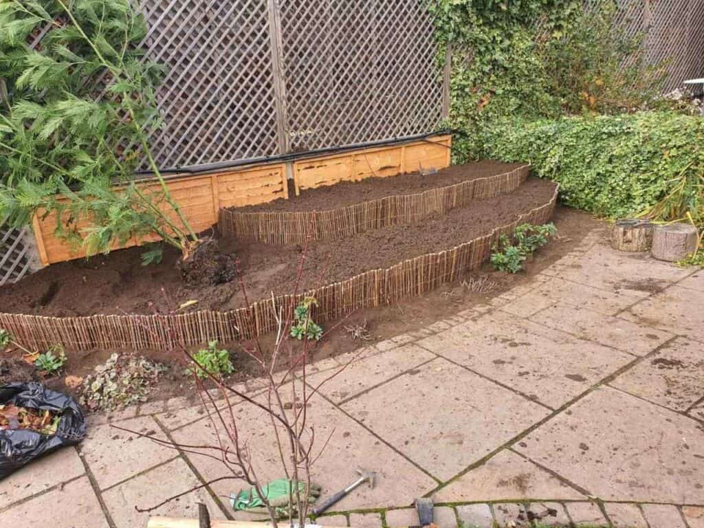 Stepped Raised Beds Installation in Palmers Green N13-6