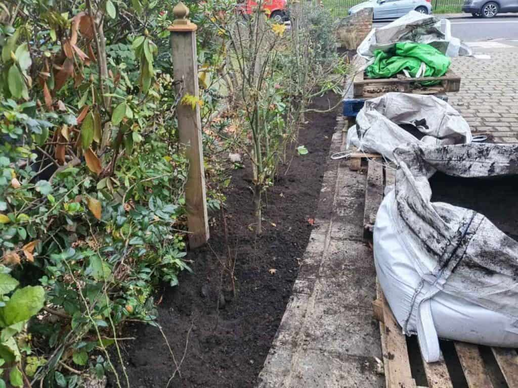 Stepped Raised Beds Installation in Palmers Green N13-7