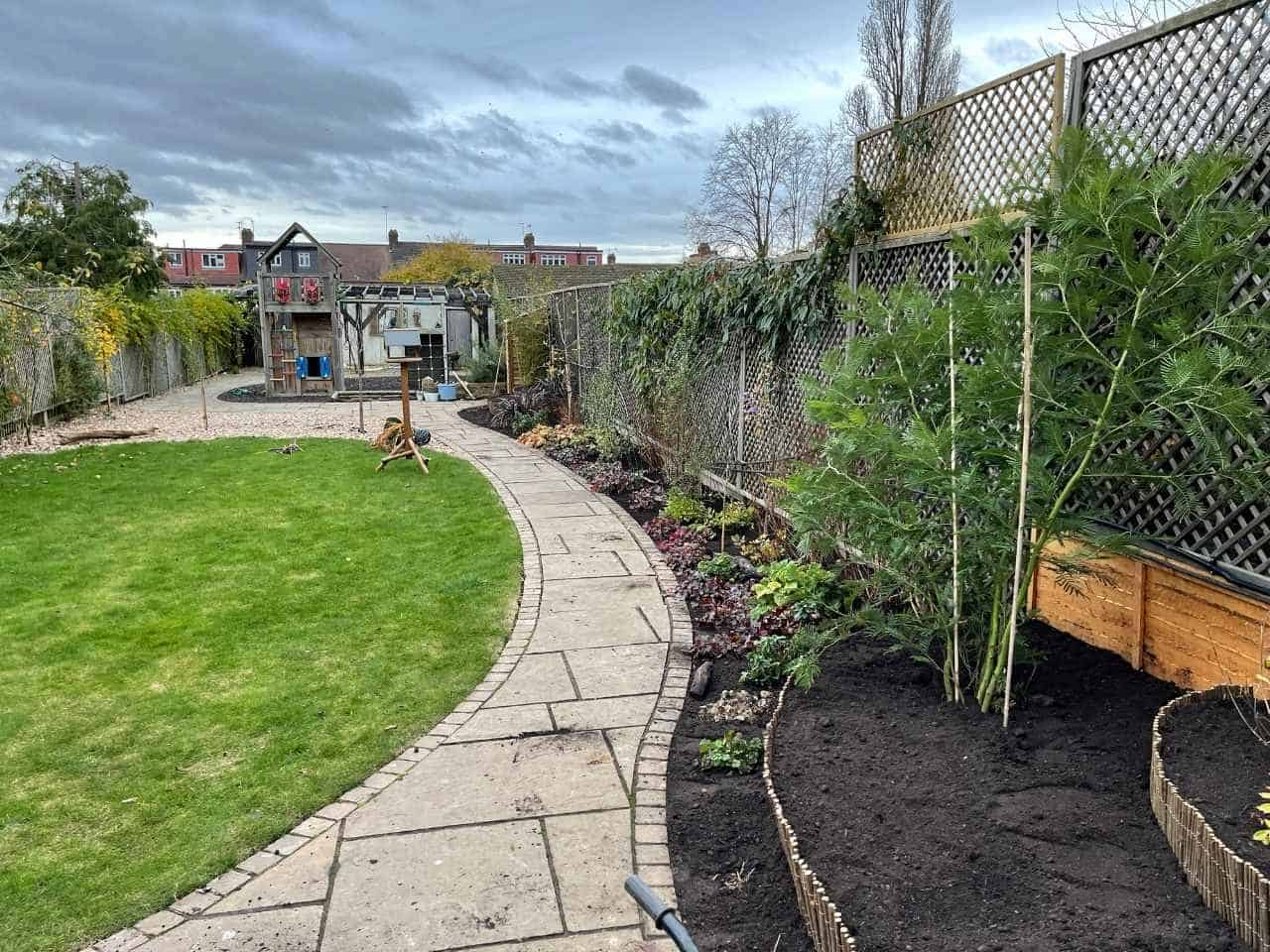 Stepped Raised Beds Installation in Palmers Green N13-8