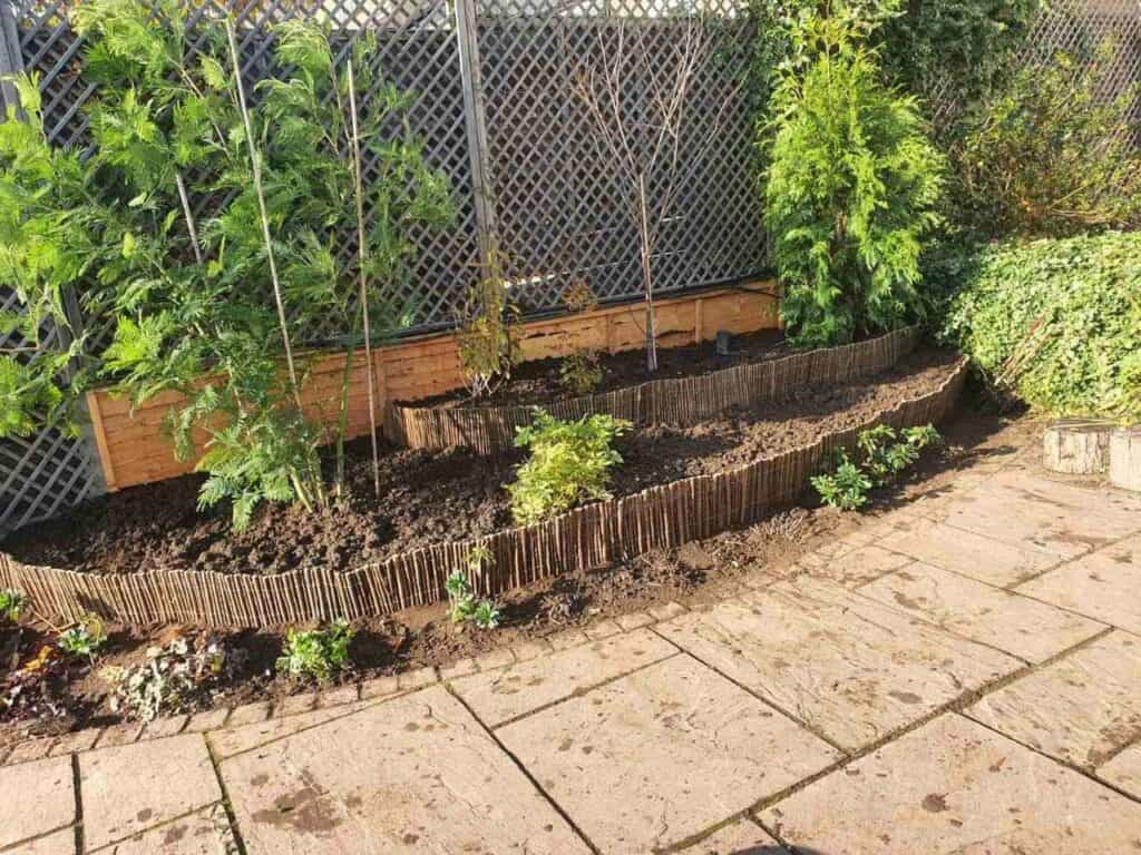 Stepped Raised Beds Installation in Palmers Green N13-9